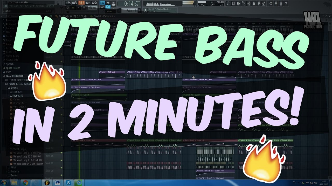 How To Make FUTURE BASS Tune In 2 MINUTES! (+ FLP) | W  A  Production
